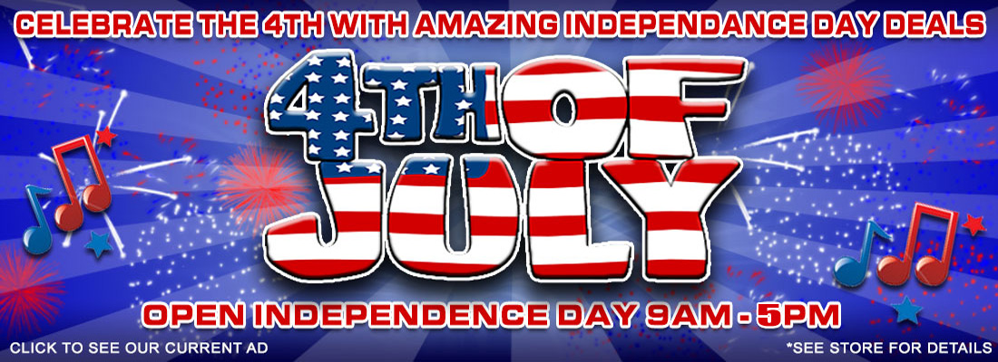 INDEPENDENCE DAY DEALS ALL WEEK LONG!