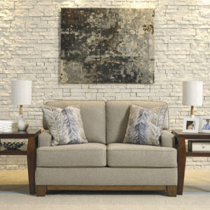 Wood Trimmed Lifestyle Loveseat