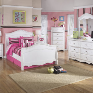 Youth Exquisite White Twin Bed