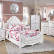 Youth Exquisite White Bedroom Group