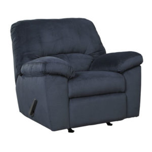 Contemporary Midnight Padded Microfiber Recliner
