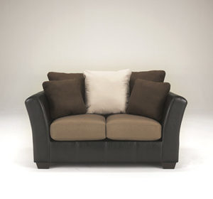 Contemporary Mocha Loveseat
