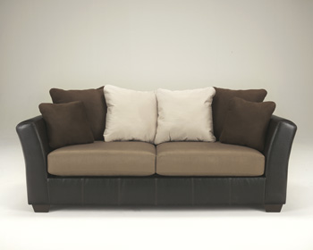 Contemporary Mocha Sofa