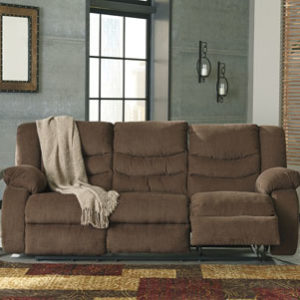 Chenille Reclining Chocolate Sofa